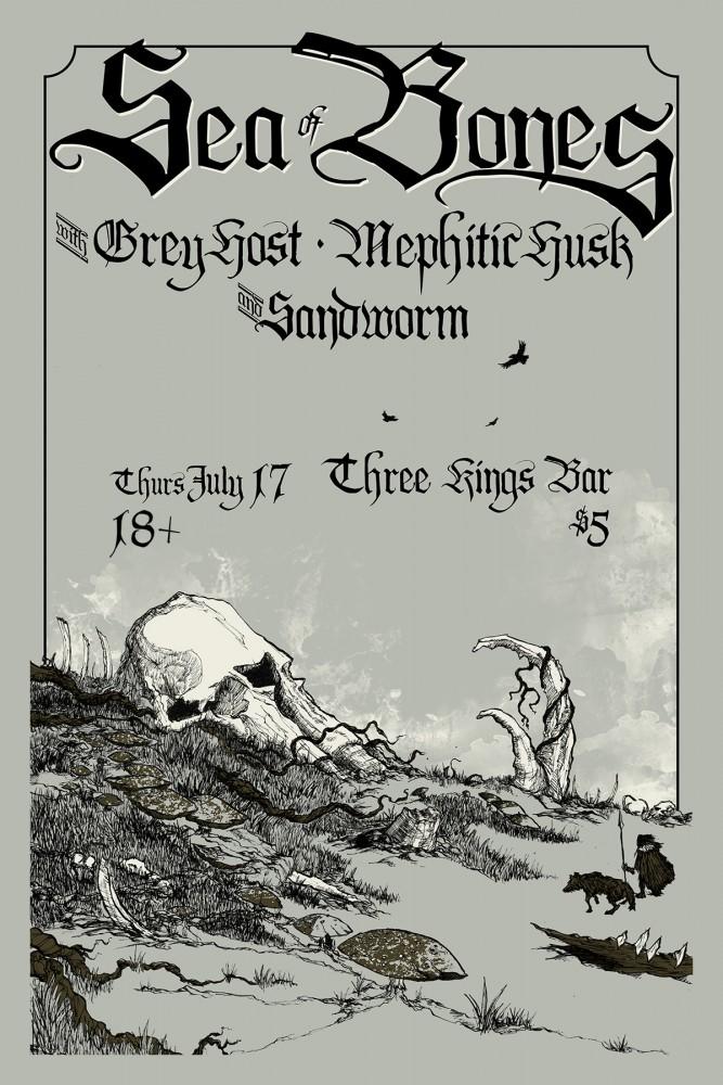 Sea of Bones Gig Poster