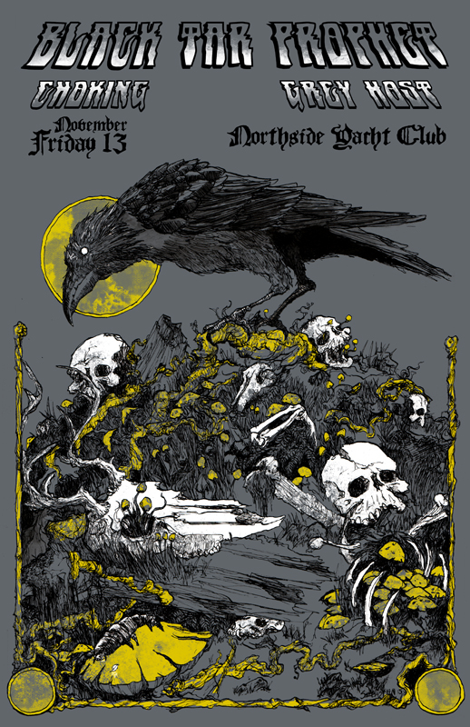 Poster for a show with Tennessee doom giants Black Tar Prophet