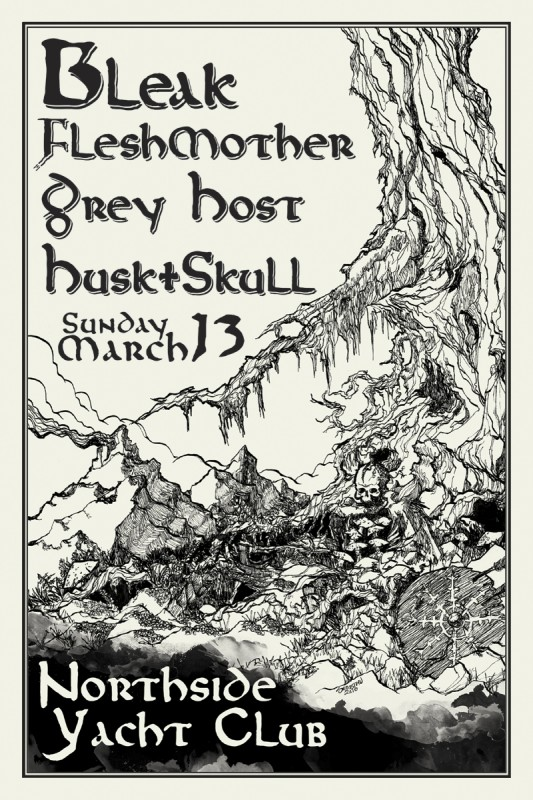 Bleak/Fleshmother/Grey Host/Husk & Skull Poster